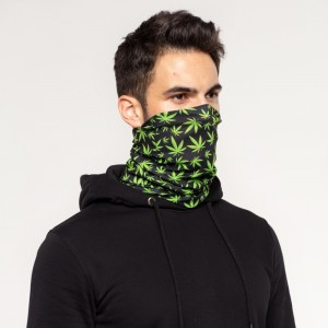Weed Pattern Neck Warmer