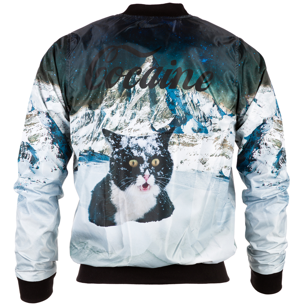 Cocaine Cat Bomber Jacket